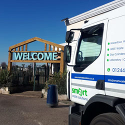 Smart Waste Solutions vehicle at client premises